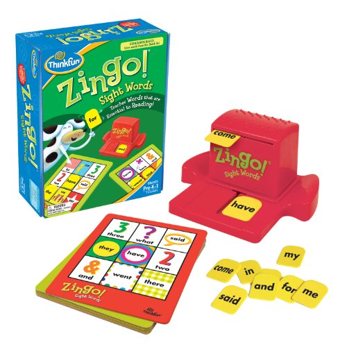 ThinkFun Zingo Sight Words Early Reading Game - Toy of the Year Finalist, Developed by Educators for Pre-K to 2nd Graders