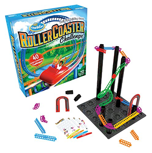 Think Fun Roller Coaster Challenge STEM Toy Building Game Boys Girls Age 6 Up - Toty Game The Year Finalist