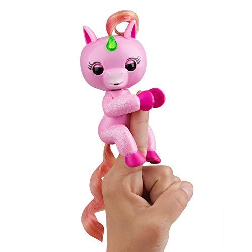 Fingerlings Light Up Unicorn - Jojo (Pink) - Friendly Interactive Toy by WowWee