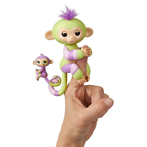 WowWee Fingerlings - Baby Monkey & Mini BFFs - Jess & Eden (Amazon Exclusive)