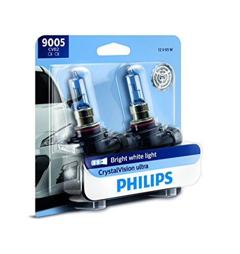 Philips 9005 CrystalVision Ultra Upgraded Bright White Headlight Bulb, 2 Pack