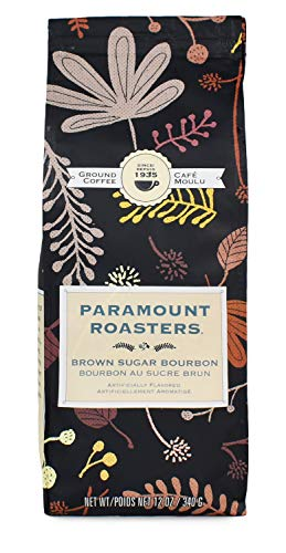 Paramount Roasters Coffee (Brown Sugar Bourbon Flavored Ground Coffee, 12 oz)