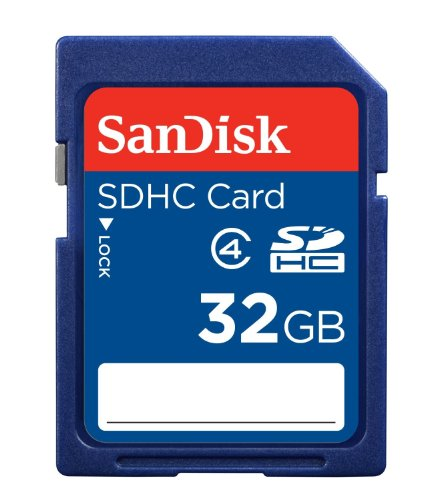 SanDisk 32GB Class 4 SDHC Memory Card, Frustration-Free Packaging- SDSDB-032G-AFFP (Label May Change)