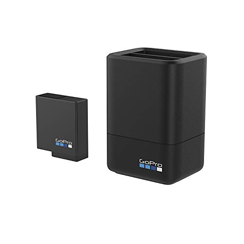 GoPro Dual Battery Charger + Battery for HERO7/HERO6 Black/HERO5 Black (GoPro Official Accessory)