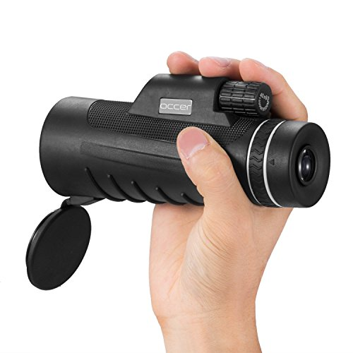 Occer 10X42 High Power Monocular Telescope HD Dual Focus Scope, Waterproof Compact Monocular with BAK4 Multi-Coated Zoom Lens, Low Night Vision for Hunting Bird Watching Camping Outdoor Sporting