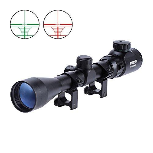 Pinty 3-9X40 Red Green Rangefinder Illuminated Optical Sniper Rifle Scope