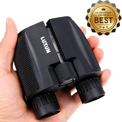 Compact Binoculars 10x25 - SGODDE Waterproof Binocular Weak Light Night Vision Folding High Powered Clear Binoculars Lightweight Bird Watching
