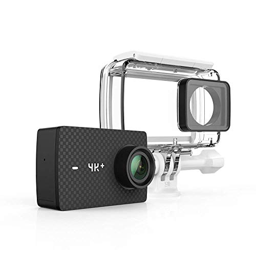 YI 4K+/60fps Action Camera with Waterproof Case, Plus Voice Control, Live Streaming, and 12MP RAW Image (Black)