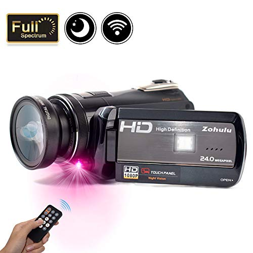 2018 Wifi Full Spectrum Camcorder, 1080P Full HD 30FPS Infrared Night Vision Paranormal Investigation Camcorder with Video Recorder 18X Digital Zoom - Ghost Hunting Camera