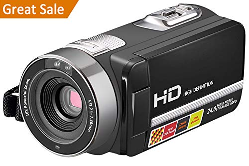 "Video Camera Camcorder, WELIKERA IR Night Vision Remote Control Handy Camera, HD 1080P 24MP 16X Digital Zoom Video Camcorder with 3.0"" LCD and 270 Degree Rotation Screen"