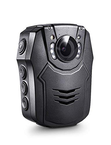 BOBLOV Body Mounted Camera 1296P Body Worn Camcorder Lightweight Night Vision Cam 150 Degree Angle Playback 7 Hours Recording