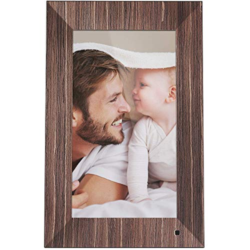 NIX Lux Digital Photo Frame 13.3 inch X13B, Wood. Electronic Photo Frame USB SD/SDHC. Clock and Calendar Function. Digital Picture Frame with Motion Sensor. Remote Control and 8GB USB Stick Included