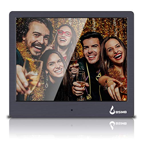 "BSIMB M12 Digital Picture Frame Digital Photo Frame 8"" LED Display Hi-Res Digital Photo & HD Video Frame and USB/SD Card Playback Infrared Remote Control"