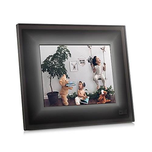 """AURA Frames - Classic, Digital Photo Frame, Add Photos from iPhone & Android App, 9.7"""" HD Display with 2048x1536 Resolution, Unlimited Storage, Motion and Light Sensor, Wi-Fi, Facial Recognition"""