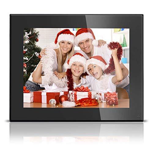Digital Picture Frame 8 Inch - HD Video Digital Slideshow Picture Frame Electronic Picture Frame with Remote Control Bsimb M03 (Black)