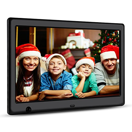 Apzka 10-Inch HD Digital Photo Frame with Motion Sensor, MP3 Photo Video & Music Playback, Calendar with 2GB Internal Memory & Remote Control (Black)
