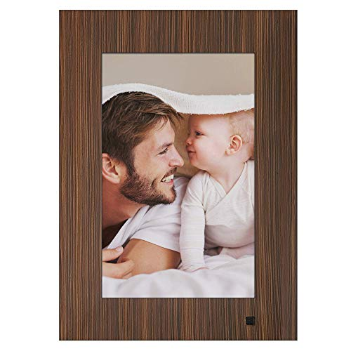 NIX Lux Digital Photo Frame 10 inch X10J, Wood. Electronic Photo Frame USB SD/SDHC. Digital Picture Frame with Motion Sensor. Control Remote and 8GB USB Stick Included