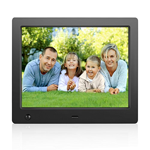 Digital Picture Frame 8 inch Electronic Digital Photo Frame IPS 4:3 1024x768 Display with Motion Sensor 1080P 720P Video Player Stereo/MP3/Calendar/Time ...