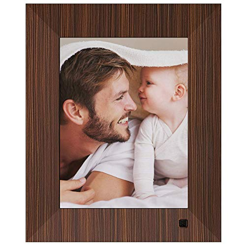 NIX Lux Digital Photo Frame 8 inch X08F, Wood. Electronic Photo Frame USB SD/SDHC. Digital Picture Frame with Motion Sensor. Control Remote and 8GB USB Stick Included