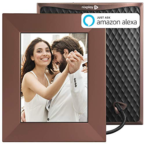 "Nixplay W08E- Burnished Bronze Iris 8"" Wi-Fi Cloud Digital Photo Frame with IPS Display, iPhone & Android App, iOS Video Playback, Free 10GB Online Storage, Alexa Integration, Burnished Bronze"