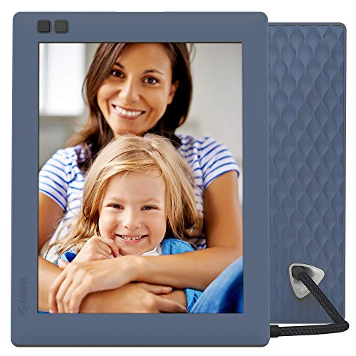 Nixplay Seed 8 Inch WiFi Digital Photo Frame with Mobile App, 10GB Online Storage, Alexa Integration and Motion Sensor - Blue (W08D)