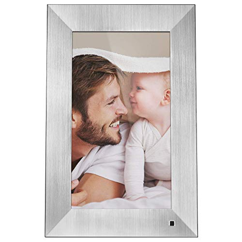 NIX Lux Digital Photo Frame 13.3 inch X13B, Metal. Electronic Photo Frame USB SD/SDHC. Clock and Calendar Function. Digital Picture Frame with Motion Sensor. Remote Control and 8GB USB Stick Included