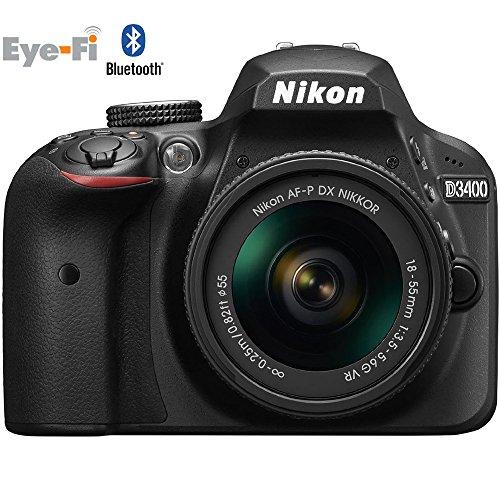 Nikon D3400 Digital SLR Camera & 18-55mm VR DX AF-P Zoom Lens (Black) - (Certified Refurbished)