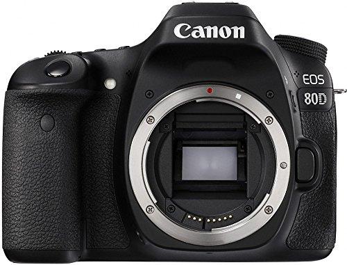 Canon Digital SLR Camera Body [EOS 80D] with 24.2 Megapixel (APS-C) CMOS Sensor and Dual Pixel CMOS AF - Black