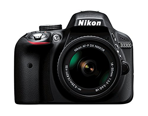Nikon D3300 w/ AF-P DX 18-55mm VR Digital SLR - Black