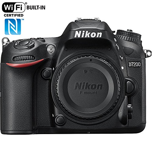 Nikon D7200 24.2 MP DX-Format Digital SLR Body with Wi-Fi and NFC (Black)(Certified Refurbished)
