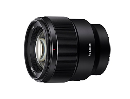 Sony SEL85F18 85mm F/1.8-22 Medium-Telephoto Fixed Prime Camera Lens, Black