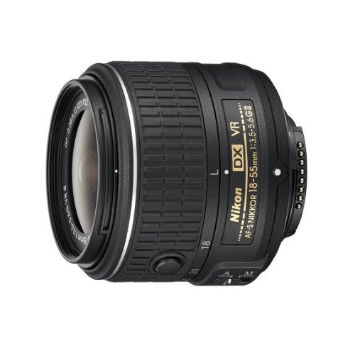 Nikon AF-S DX NIKKOR 18-55mm f/3.5-5.6G Vibration Reduction II Zoom Lens with Auto Focus for Nikon DSLR Cameras