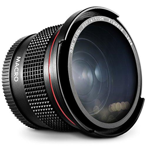 52MM 0.35x Altura Photo HD Fisheye Wide Angle Lens (w/Macro Portion) for Nikon D7100 D7000 D5500 D5300 D5200 D5100 D3300 D3200 D3100 D3000 DSLR Cameras
