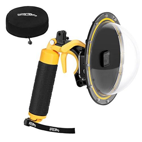 YOEMELY Dome Port for GoPro Hero 6 Hero 5 Hero 2018 HERO7 Black Underwater Dome GoPro Accessories (Yellow)