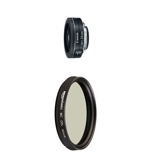 Canon EF-S 24mm f/2.8 STM Lens with Circular Polarizer Lens