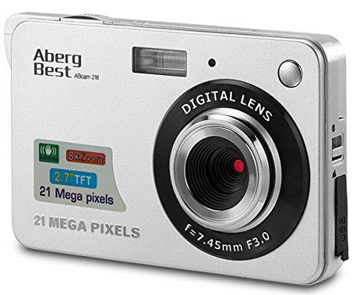 "AbergBest 21 Mega Pixels 2.7"" LCD Rechargeable HD Digital Camera Video Camera Digital Students Cameras,Indoor Outdoor for Adult/Seniors / Kid (Silver)"
