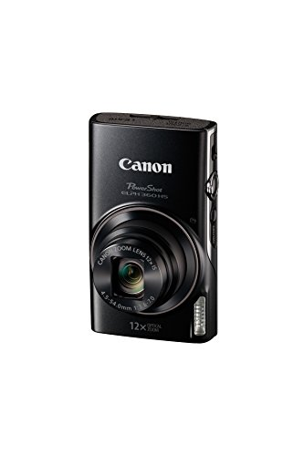 Canon PowerShot ELPH 360 Digital Camera w/12x Optical Zoom and Image Stabilization - Wi-Fi & NFC Enabled (Black)