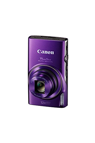 Canon PowerShot ELPH 360 Digital Camera w/12x Optical Zoom and Image Stabilization - Wi-Fi & NFC Enabled (Purple)