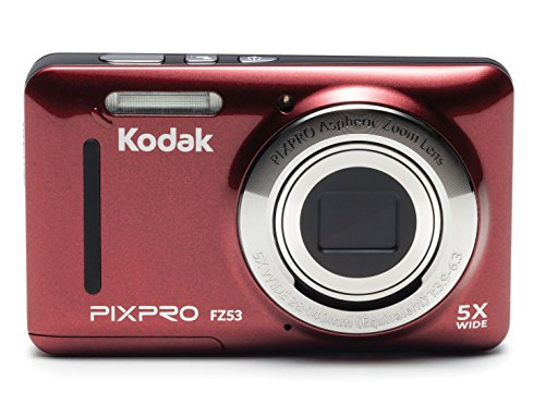 "Kodak PIXPRO Friendly Zoom FZ53-RD 16MP Digital Camera with 5X Optical Zoom and 2.7"" LCD Screen (Red)"