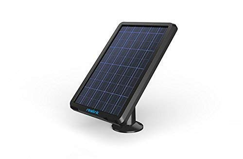 Reolink Solar Panel Power Supply for Wireless Outdoor Rechargeable Battery Powered IP Security Camera Reolink Argus 2/Argus Pro, Waterproof, Adjustable Mount, Continuous Power Supply