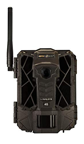 SPYPOINT Link-EVO-V Cellular Trail Camera, 4G/LTE (VERIZON), 12MP HD Video, High Power LEDs&Infrared Boost Tech, 0.3s Trigger Speed, 80' Detect&90' Flash, Easy Setup