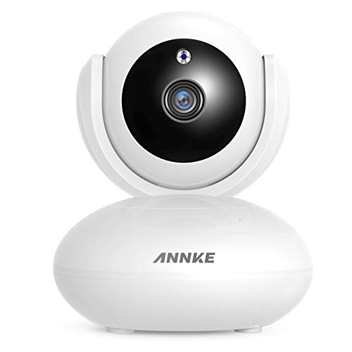 ANNKE 1080P IP Camera, Smart Wireless Pan/Tilt Home Security Camera, Auto Tracking, APP Alarm Push, Two-Way Audio, Support 64GB TF Card, Cloud Storage Available, (Echo Show/Echo Spot) Work with Alexa