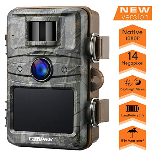 """Campark Trail Camera 14MP 1080P HD Game Hunting Cam 940nm 44Pcs IR LEDs Night Vision Motion Activated Cameras with 2.4"""" LCD and IP66 Waterproof"""