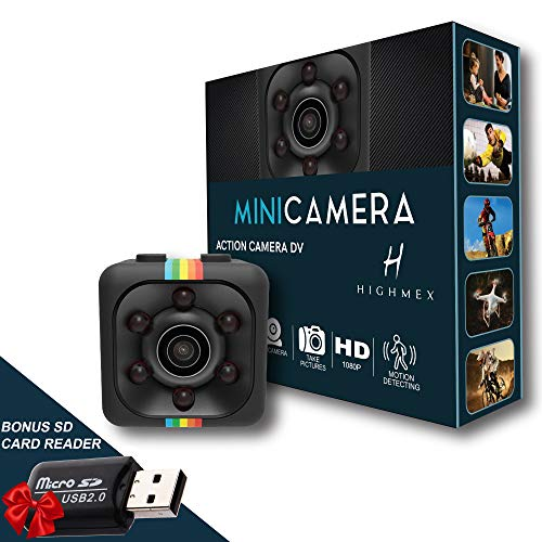 Camera, Action Camera, Nanny Cam, Mini Camera, Cop Cam, Spy Cams, Best Digital Small HD Super Portable with Night Vision and Motion Detection, Cameras for Home, Car, Drone, Office