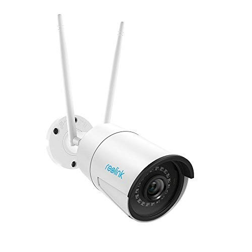Reolink RLC-410W 4MP 1440P Wireless Outdoor Security Camera, 2.4/5Ghz Dual-Band WiFi Home IP Camera with Night Vision, Motion Detection and Waterproof, SD Card Slot