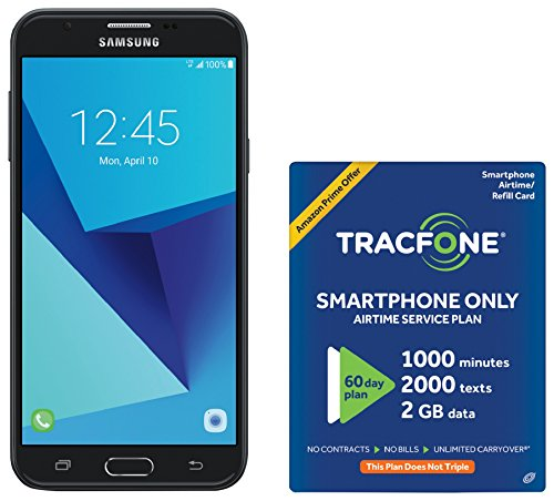 TracFone Samsung Galaxy J7 Sky Pro 4G LTE Prepaid Smartphone with Amazon Exclusive Free $40 Airtime Bundle