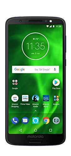 Moto G6 - 64 GB - Unlocked (AT&T/Sprint/T-Mobile/Verizon) - Deep Indigo - Prime Exclusive Phone