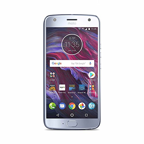 Moto X (4th Generation) - with Amazon Alexa hands-free - 32 GB - Unlocked - Sterling Blue - Prime Exclusive