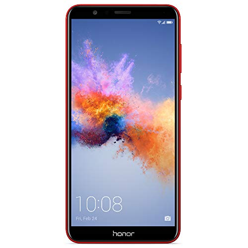 "Honor 7X GSM Unlocked Smartphone 5.93"" FullView Display, 16MP + 2MP Dual-Lens Camera, Dual SIM, Expandable Storage, Red (US Warranty)"