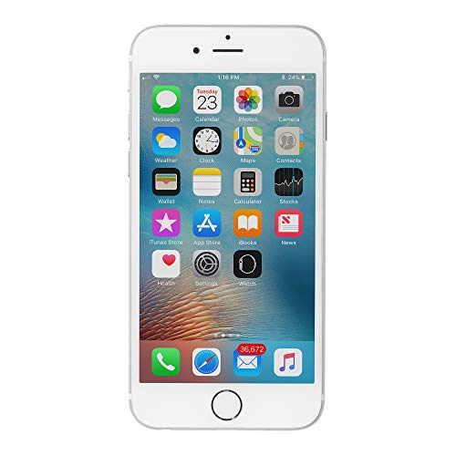 Apple iPhone 6, Fully Unlocked, 64GB - Silver (Refurbished)